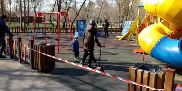 У Києві помітили відвідувачів у заборонених місцях