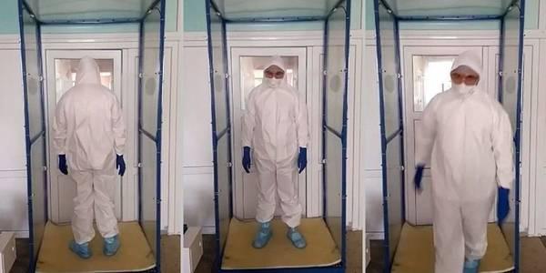 Київські медики отримали рамки для дезінфекції одягу