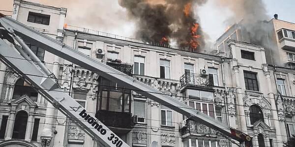 Міська влада допомагає постраждалим внаслідок пожежі на Великій Васильківській